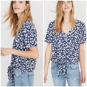"""Madewell """"Novel"""" Tie-Front Top in French Floral"""